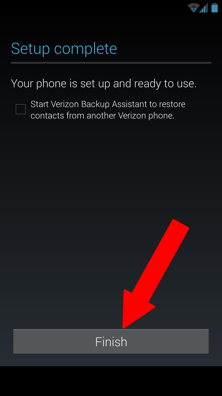Verizon backup assistant.