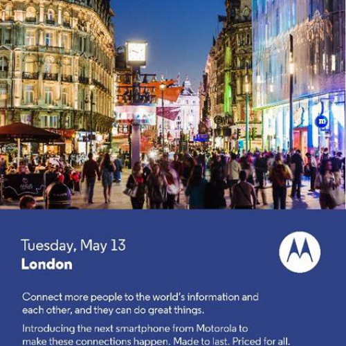 New Motorola phone to be announced May 13