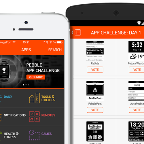 Vote in the Pebble App Challenge and you could win $500 in 'cash prizes and swag'