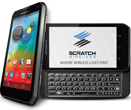 Scratch Wireless' Motorola Photon Q offers Unlimited Talk, Text, and Web on WiFi and Unlimited SMS off-network.