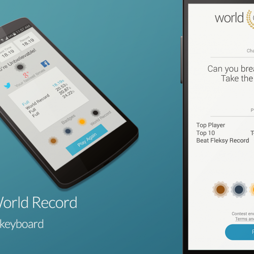 Guinness World Record for fast texting is broken by Fleksy Keyboard
