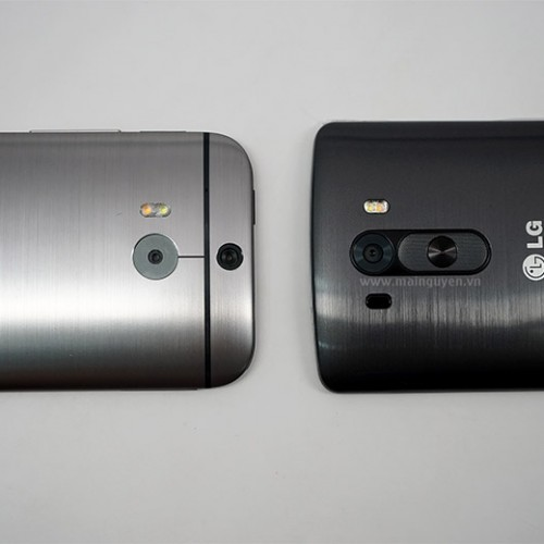 LG G3 compared in size to HTC One (M8) ahead of launch
