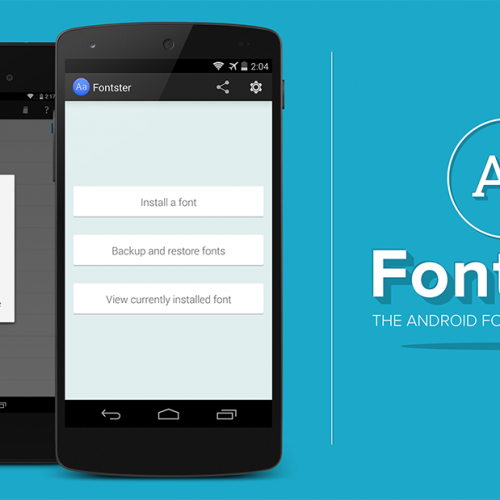 Change your Android system font with Fontster