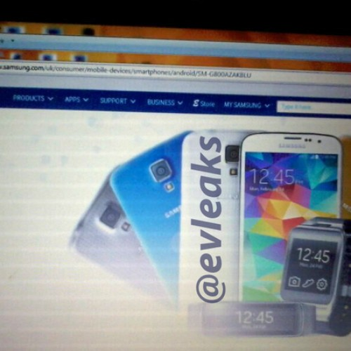 Galaxy S5 Dx spied briefly on Samsung website