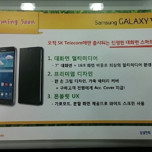 Samsung Galaxy W to sport a 7″ screen?