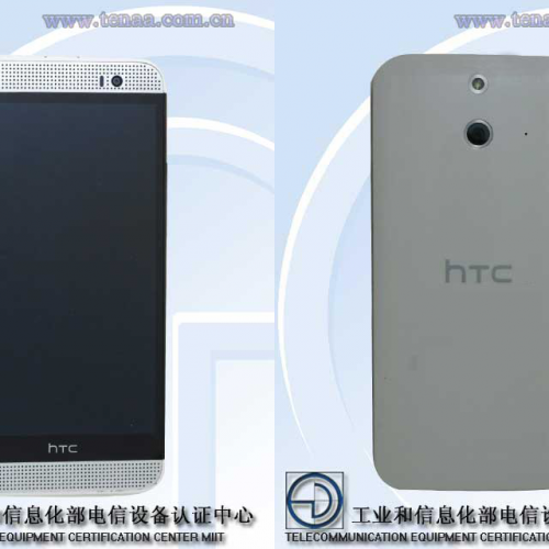 Front and back of HTC One M8 spied