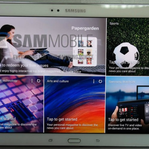 Samsung Galaxy Tab S 10.5 poses for the camera