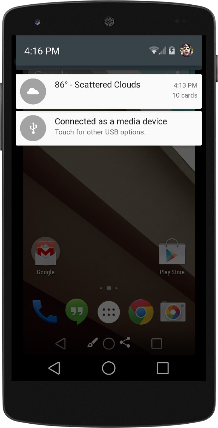 Android L Notification Drawer