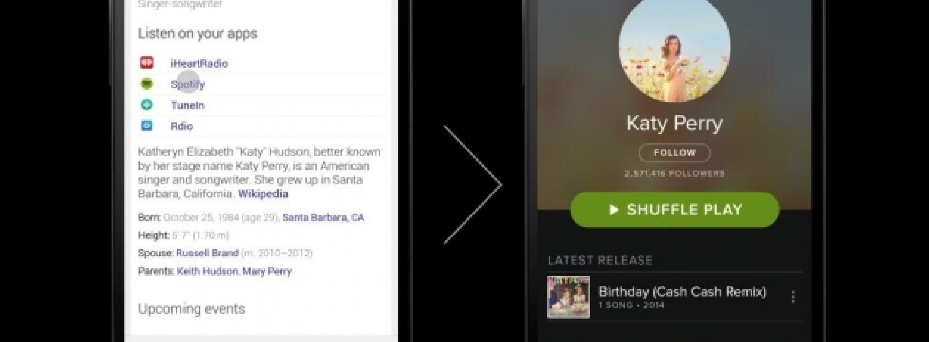 Google Now learns a new quick links trick when you perform a music search