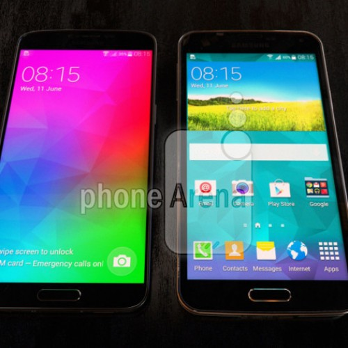Samsung Galaxy F to come with a QHD screen? Poses next to a Galaxy S5