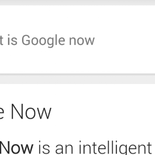 The Future of Google Now