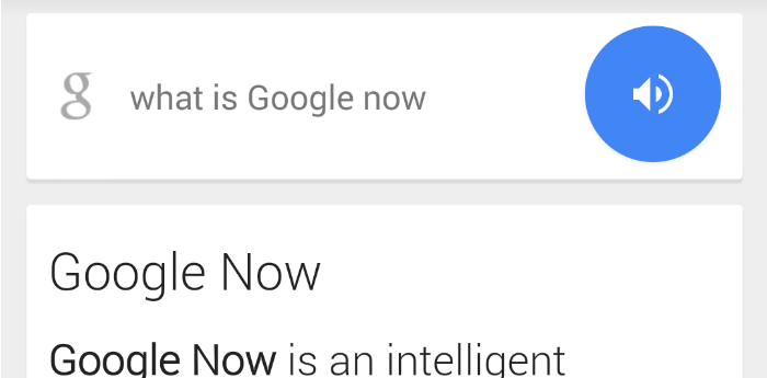 Google Now Search Bar