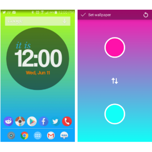 Create simple yet gorgeous gradient wallpapers with Mixt [App of the Day]
