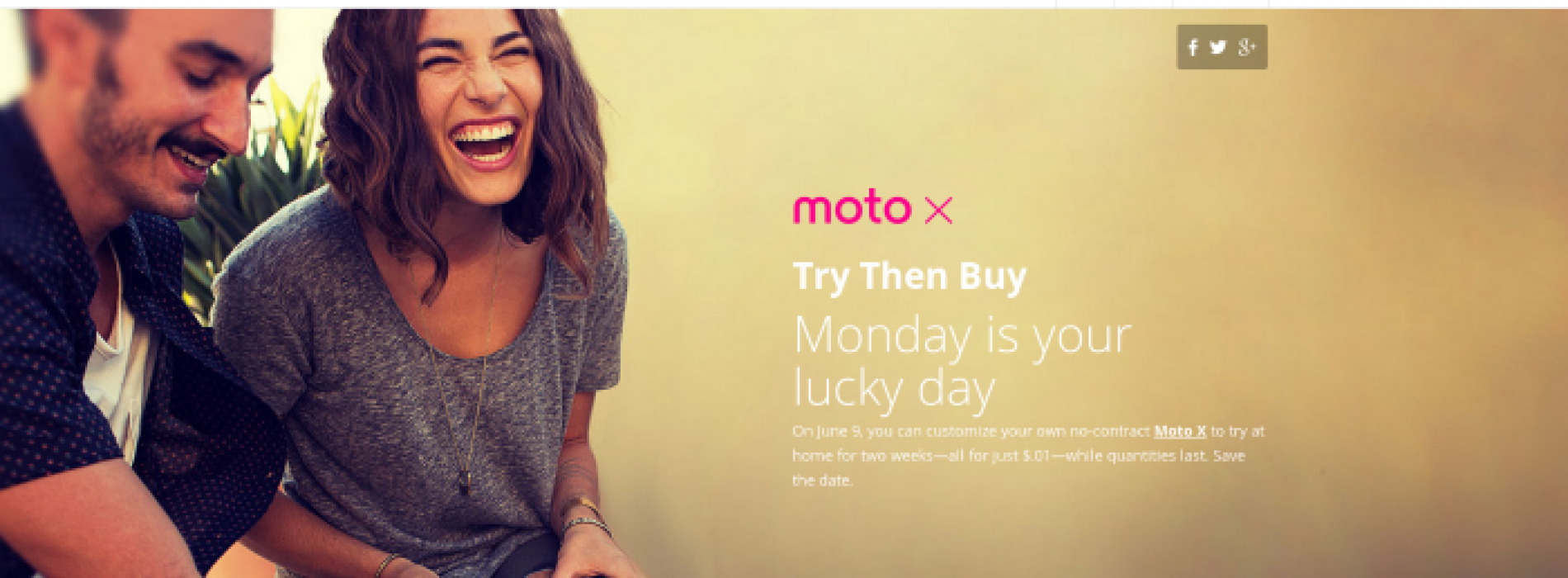 """Motorola schedules 24 hour """"Try Then Buy"""" promotion for Moto X on June 9"""