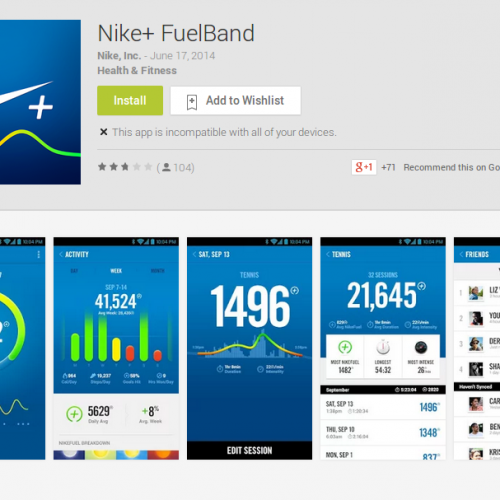 Fuelband app is finally available on Android