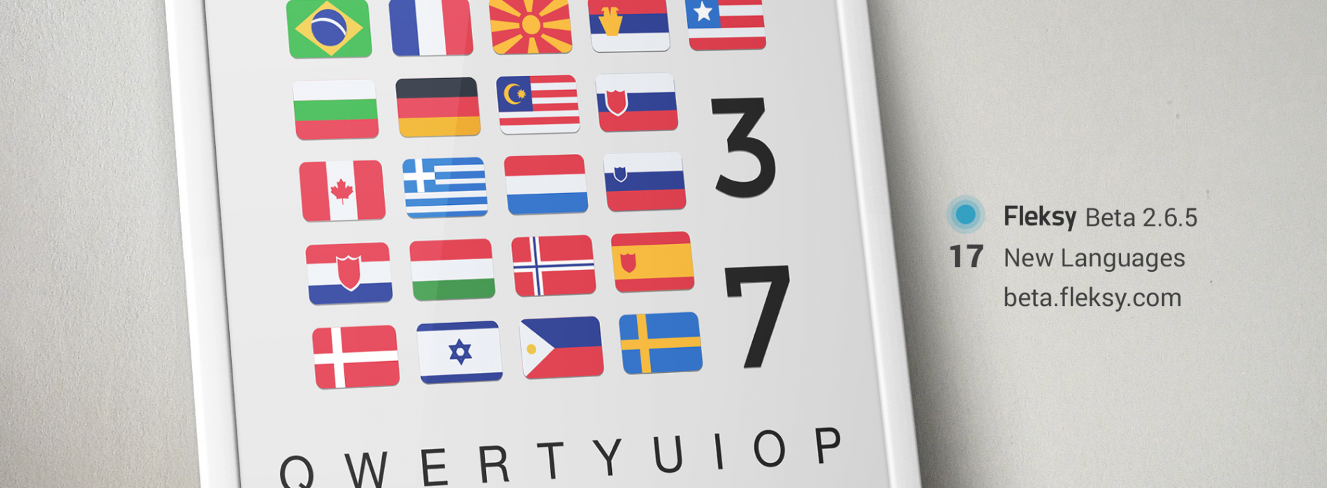 Fleksy Keyboard introduces 15 new languages in beta