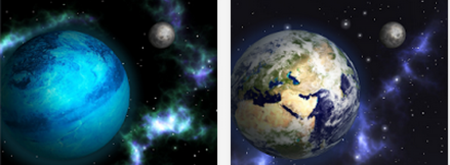 Enjoy the beauties of space with GyroSpace 3D Live Wallpaper