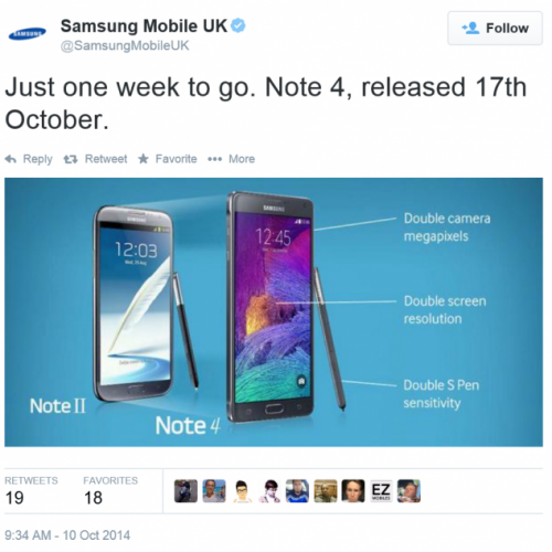 UK release date for the Galaxy Note 4 delayed