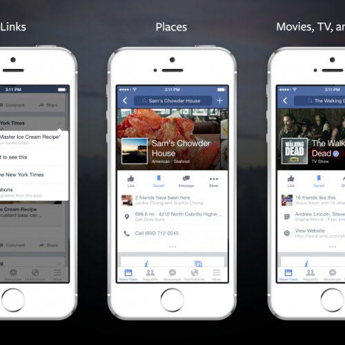 """Save Once, View Anywhere"" with Facebook's new feature"