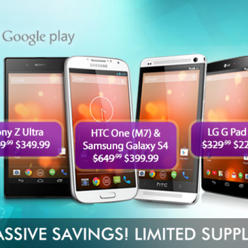 [DEALS & STEALS] A bunch of Google Play Edition (GPE) devices are on sale at Expansys USA, up to 46% off