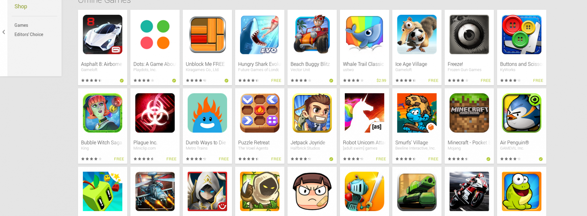 Google highlights best offline games for Android