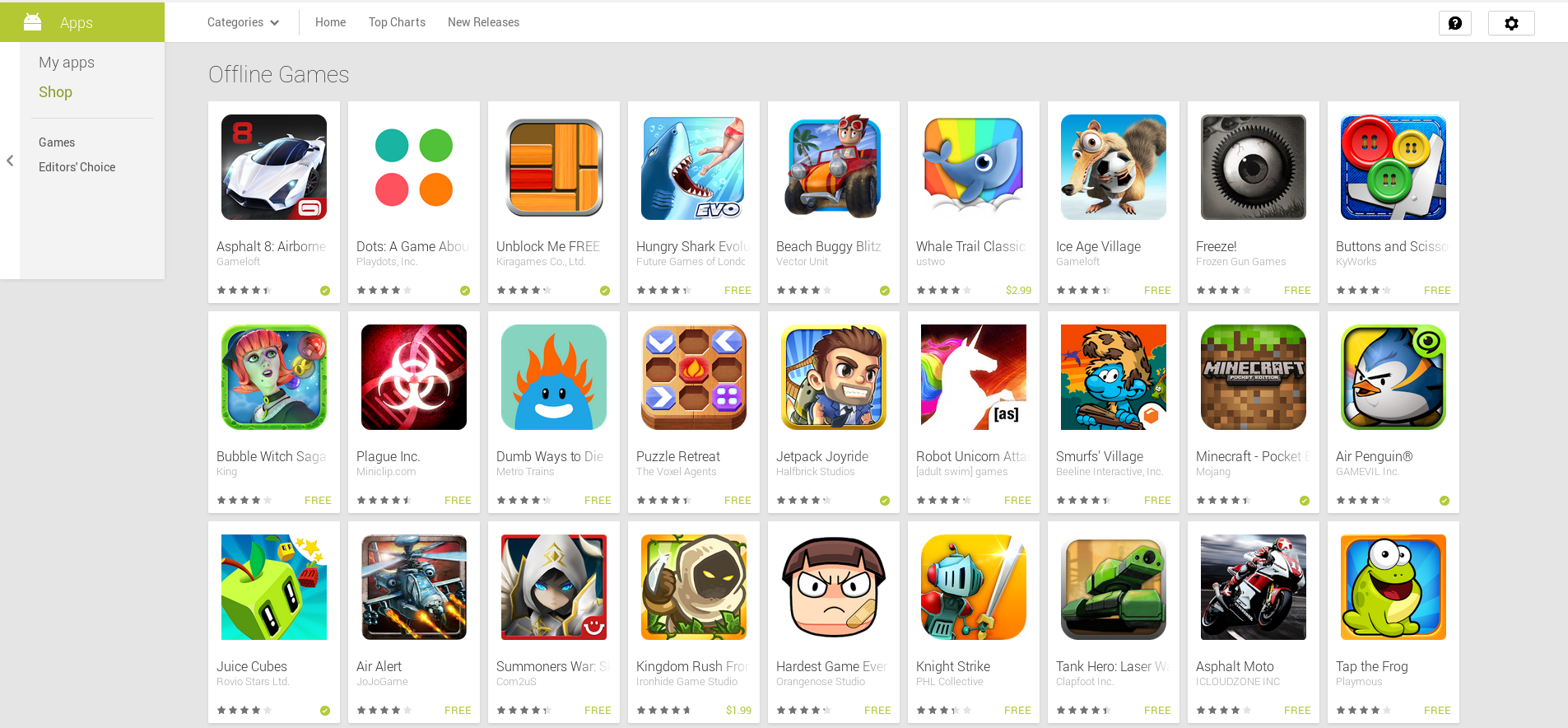 best android games 2014 offline