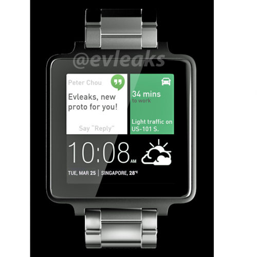 Alleged HTC smartwatch running Android Wear leaks