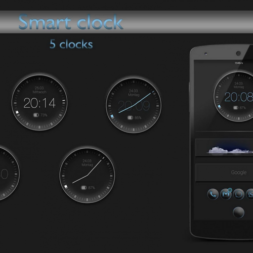 Get This Look: 'Smart Clock' Zooper Widget