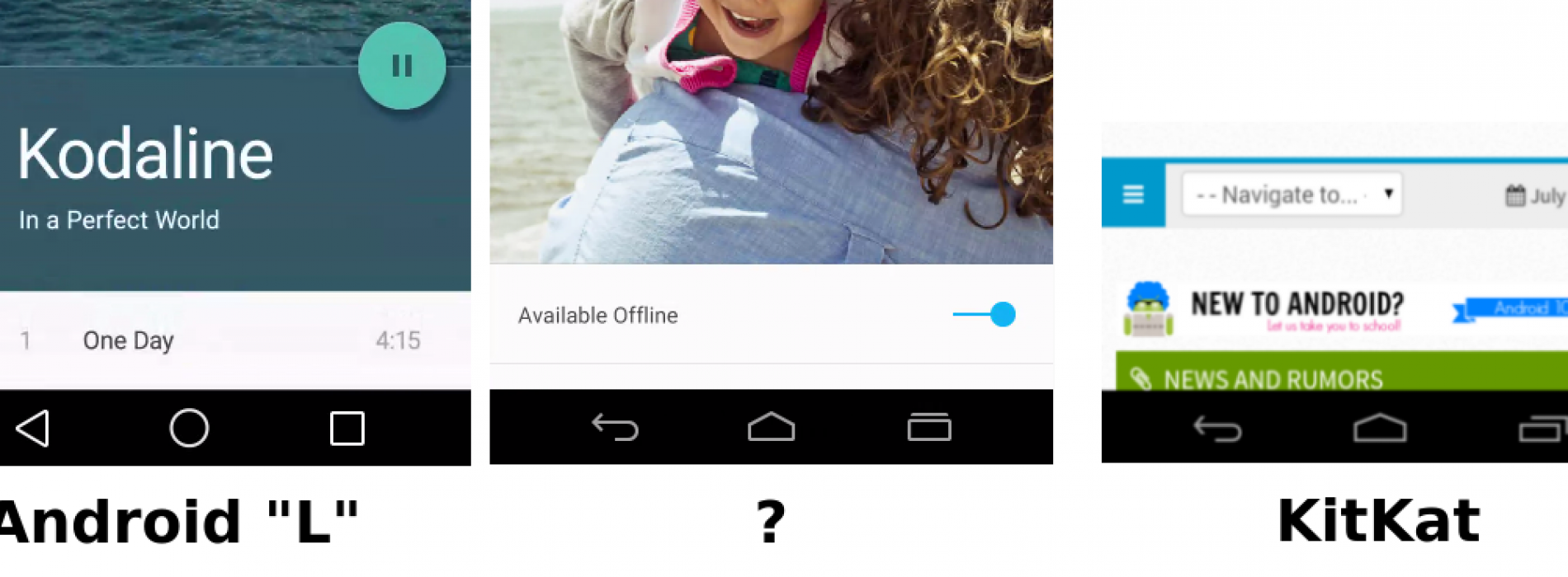 "Is Google teasing alternative on-screen buttons for Android ""L""?"