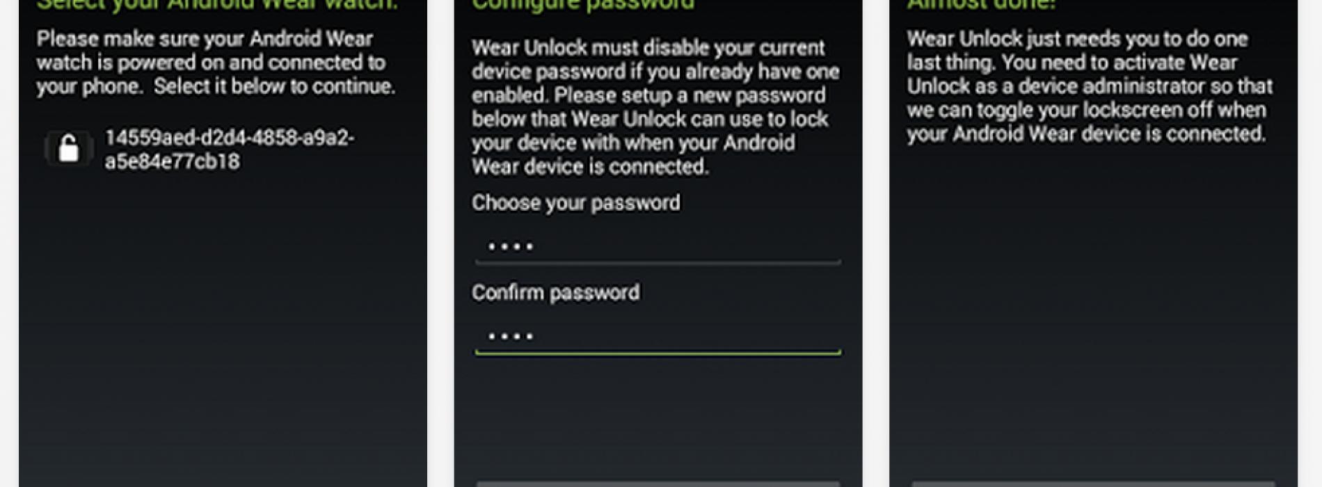 Watch This App: Wear Unlock