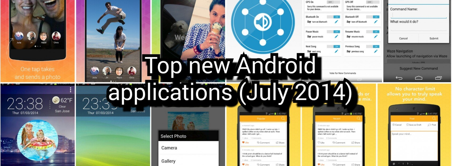 Top new Android applications (July 2014)