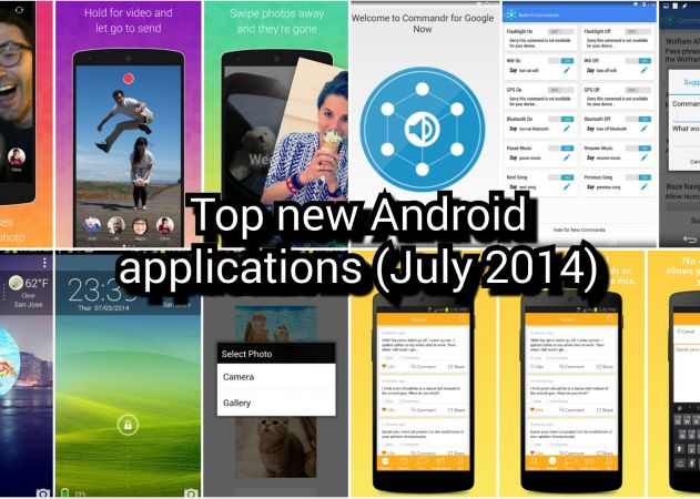 top new android apps july 2014