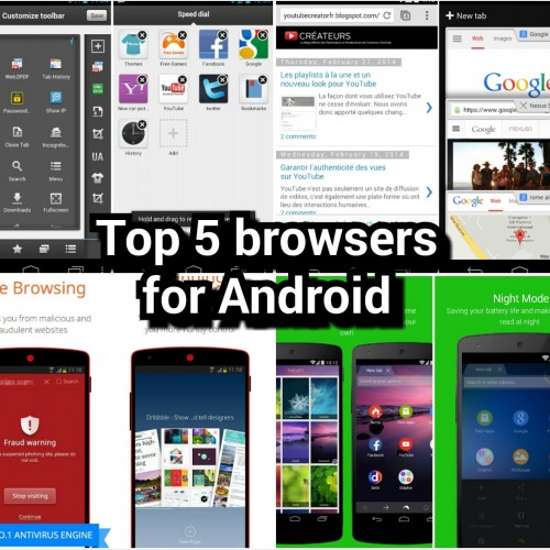 Top browsers for Android (mid-2014)
