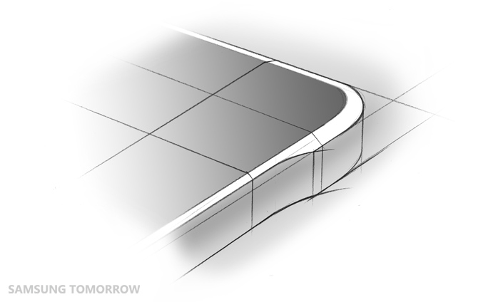 Sketch of the Alpha's rounded corners