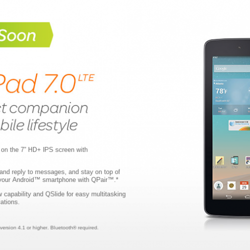 AT&T announces LG G Pad 7.0 LTE for August 8