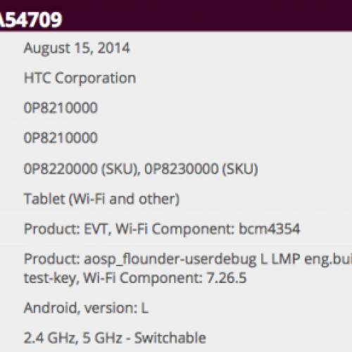 HTC Tablet gets WiFi Certification