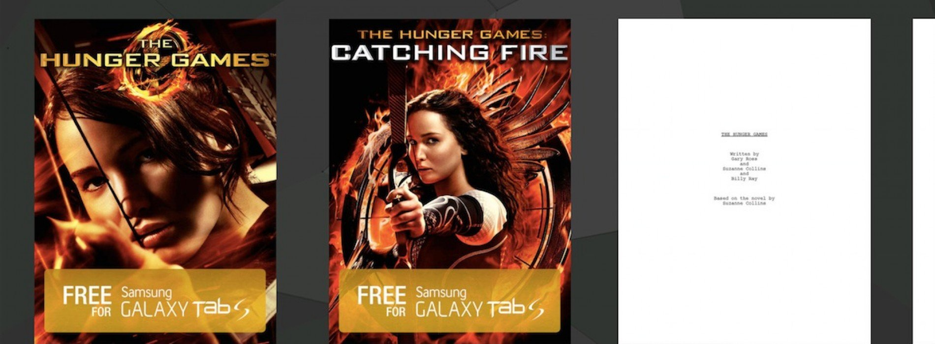 Select Samsung devices can access exclusive content with The Hunger Games Movie Pack
