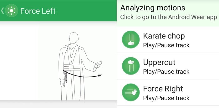 Kiwi: Using the Force and uppercuts to control your phone