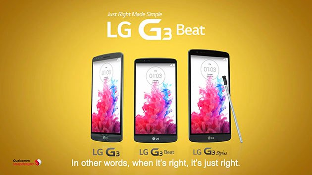 This image contains the trio of G3 smart phones including the unreleased G3 Stylus.