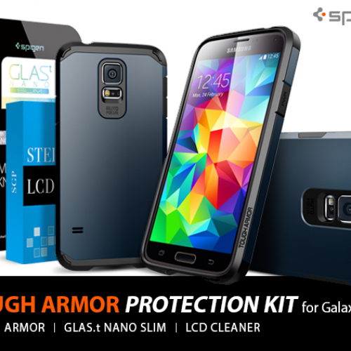 LAST CHANCE! Spigen Galaxy S5 Tough Armor Bundle $49% OFF (Deal of Day)