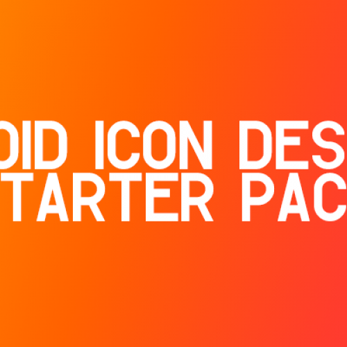 Renowned Android developer offering Icon Design Starter Pack for $25