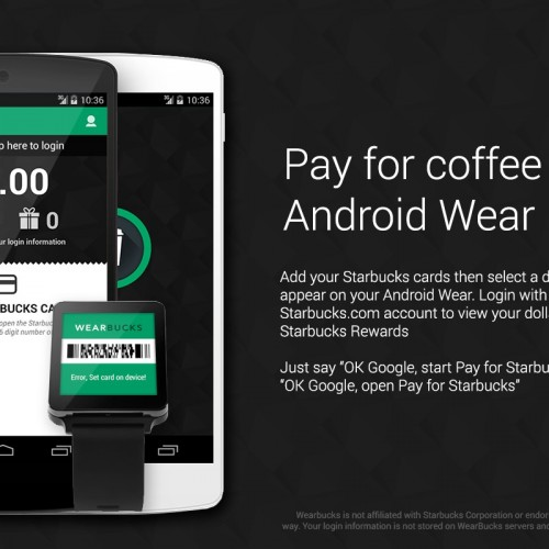 WearBucks (Pay for Starbucks) brings Rewards payments to your wrist ['Watch' This App]