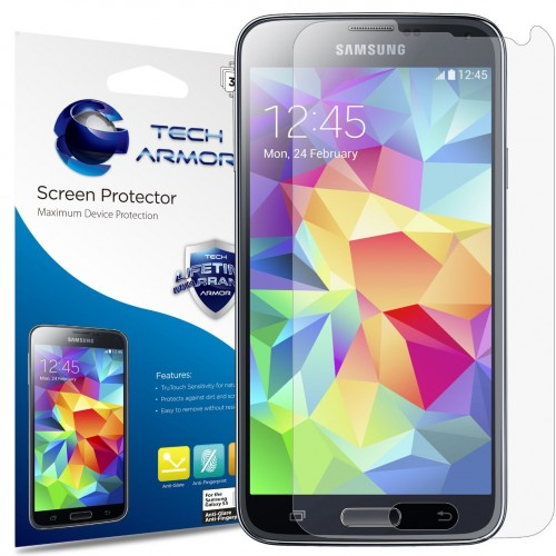 Galaxy S5 anti-glare/anti-fingerprint screen protectors, $6.95