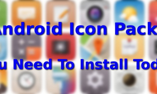 Icon packs that you must have on your Android device…Round Five