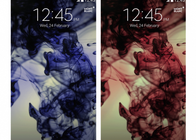 Special Montblanc Ink unlock screen wallpaper