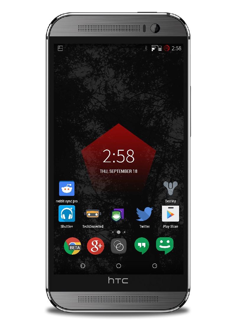 Mono Red Main Screen