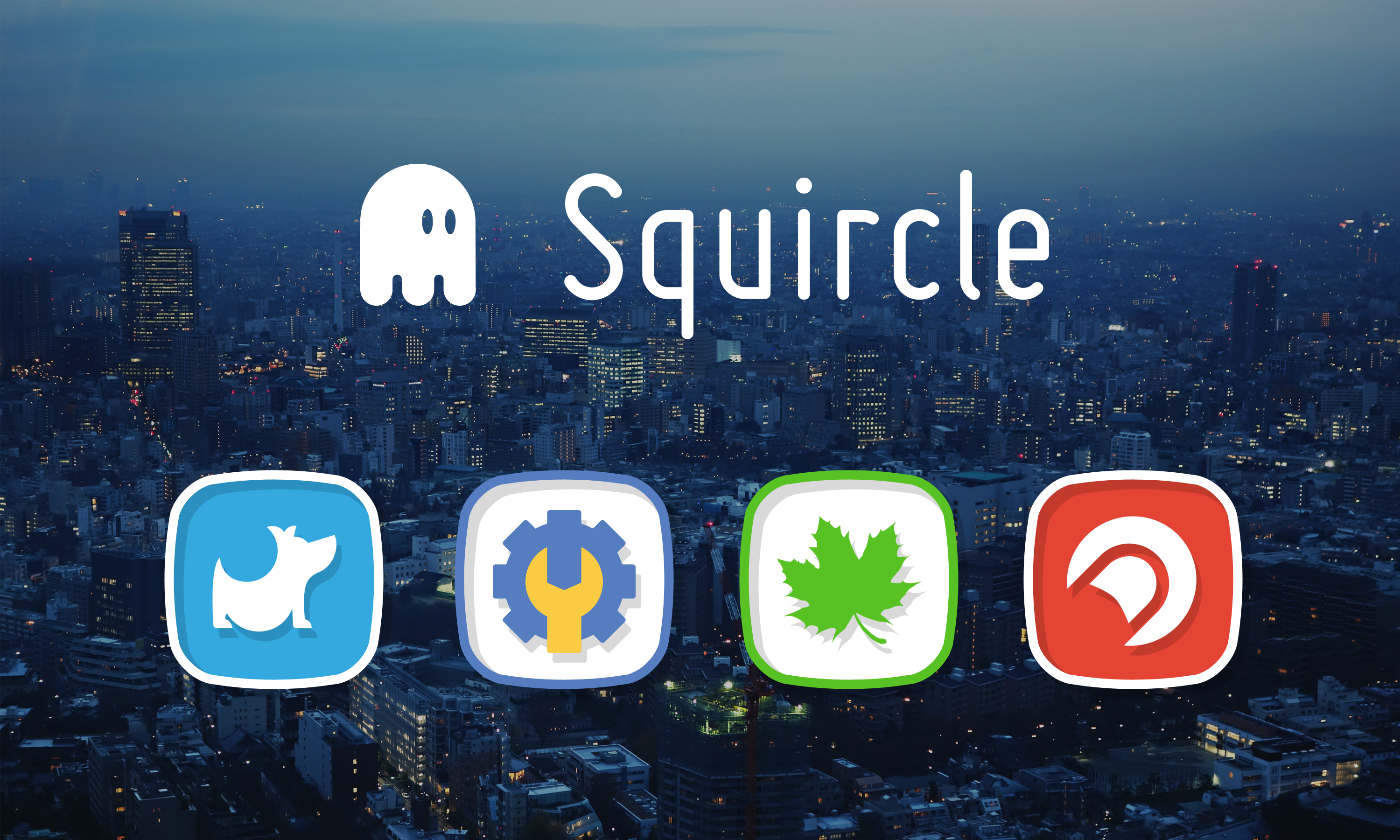 Squircle Icon Banner