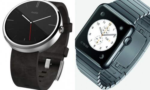 Early impressions on the Moto 360 vs. Apple Watch