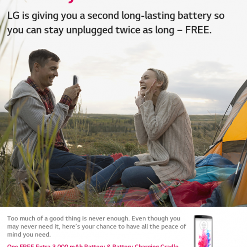 LG offering free 3,000mAh battery & battery charging cradle with G3 purchase