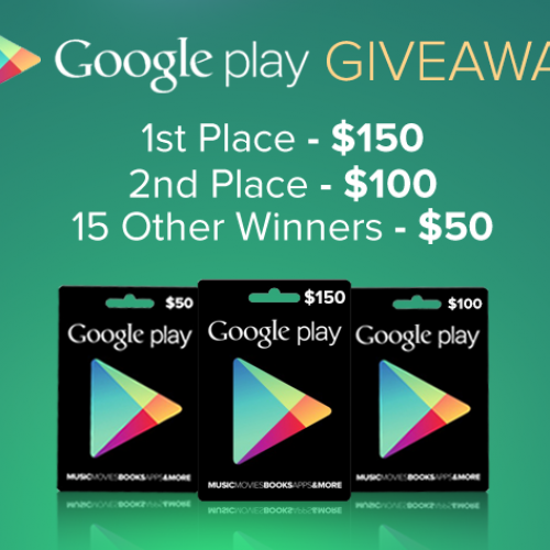The $1000 Google Play Store Giveaway: Last chance at free gift cards, ends today [Deal of the Day]